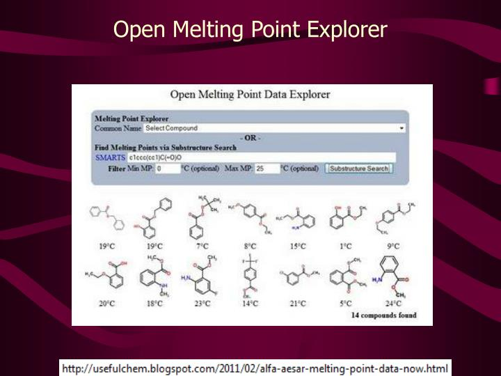 Open Melting Point Explorer