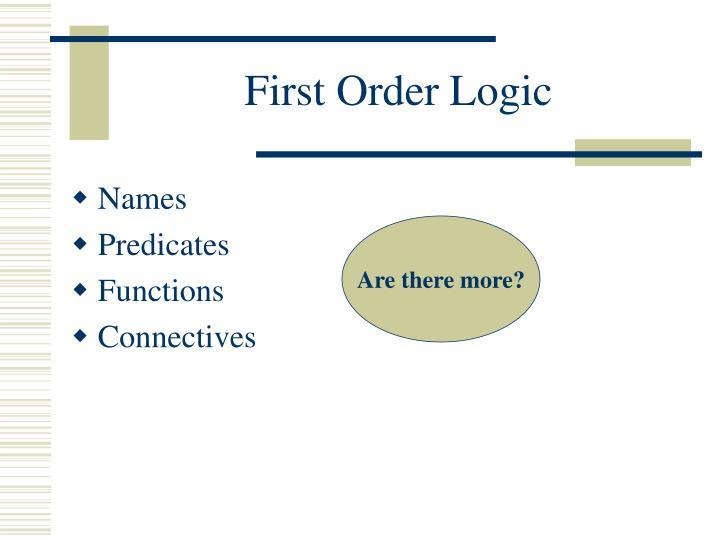 First Order Logic