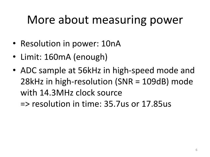 More about measuring power