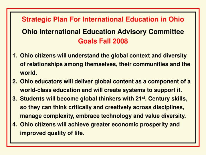 Ohio International Education Advisory Committee