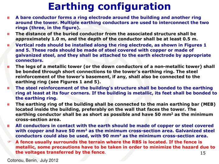 Earthing configuration