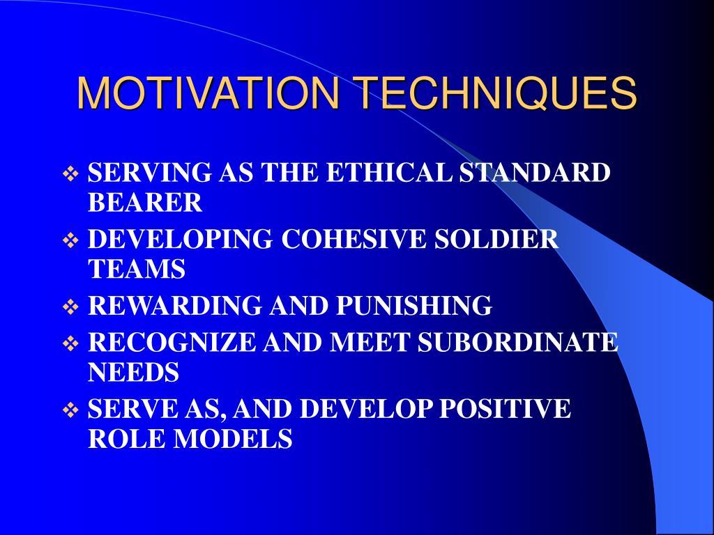 MOTIVATION TECHNIQUES