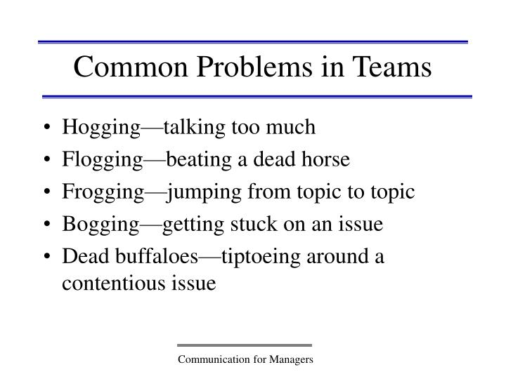 Common Problems in Teams
