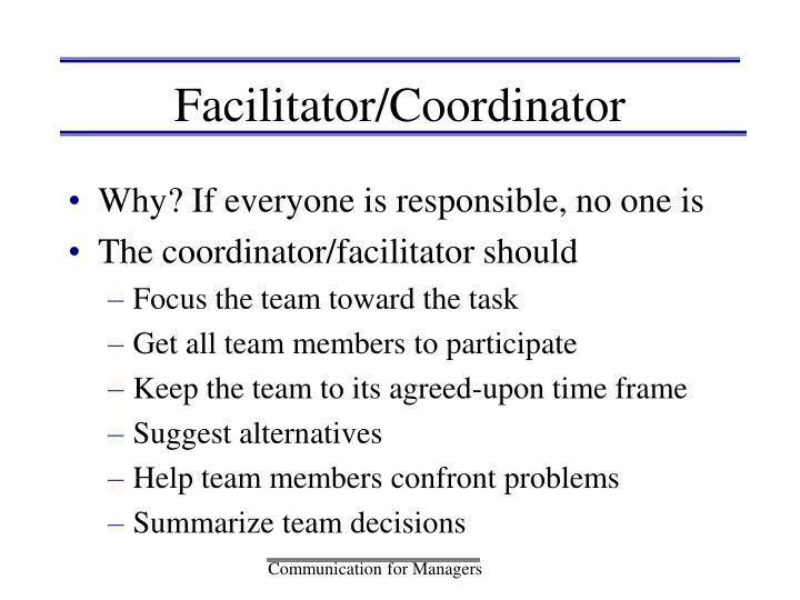 Facilitator/Coordinator
