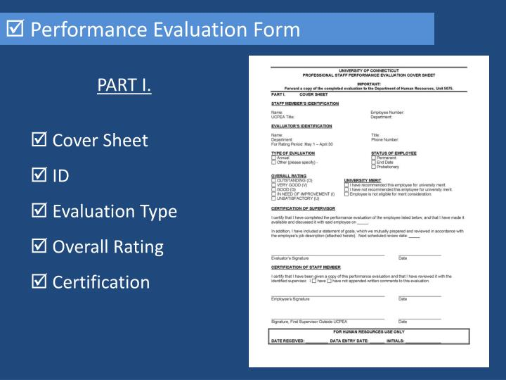  Performance Evaluation Form
