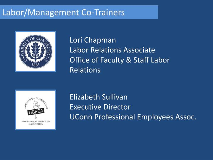 Labor/Management Co-Trainers