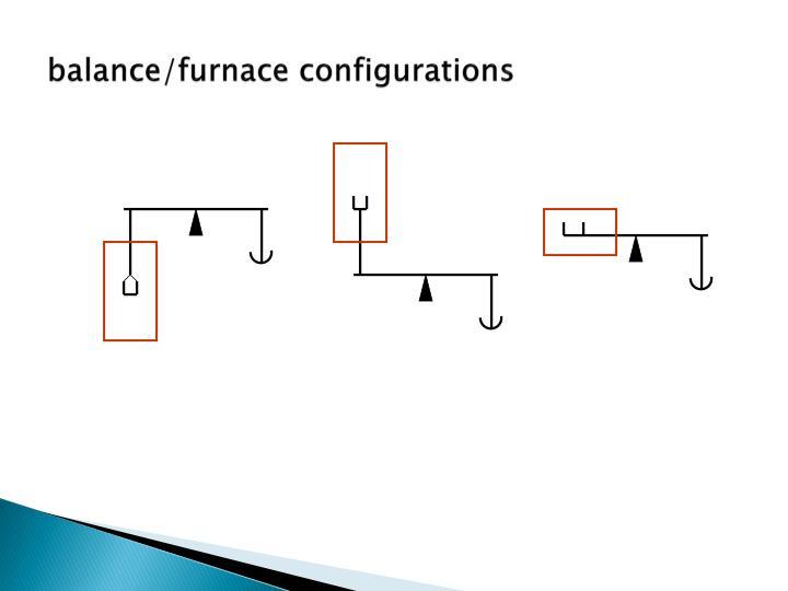 balance/furnace configurations