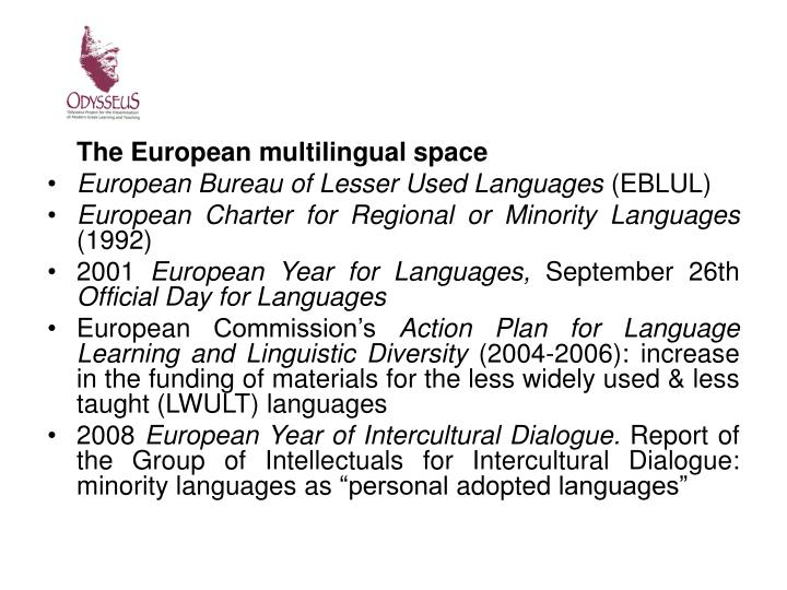 The European multilingual space