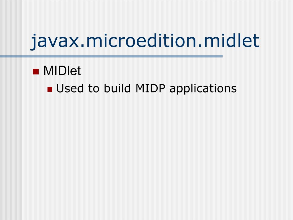 javax.microedition.midlet