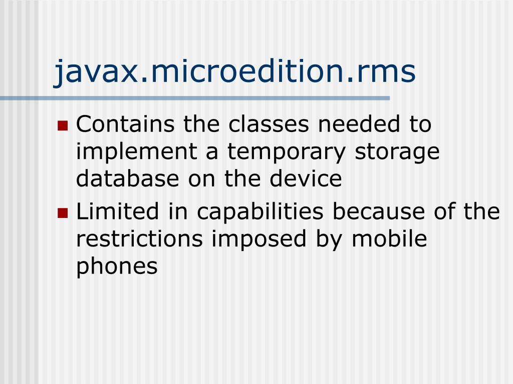 javax.microedition.rms