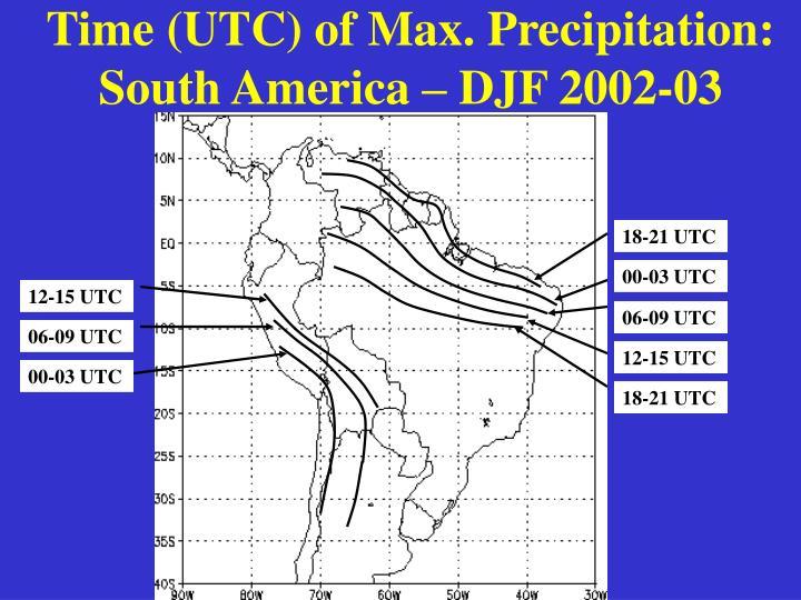 Time (UTC) of Max. Precipitation: