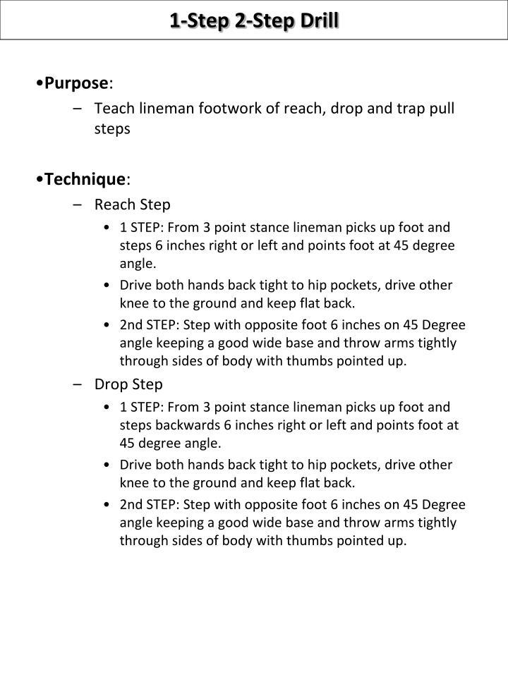 1-Step 2-Step Drill