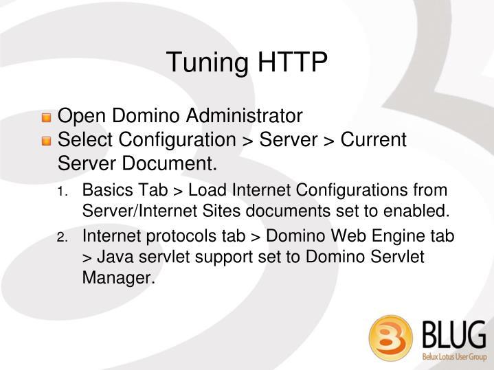 Tuning HTTP