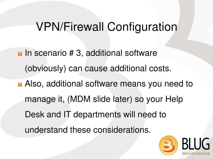 VPN/Firewall Configuration
