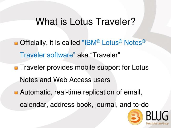 What is Lotus Traveler?