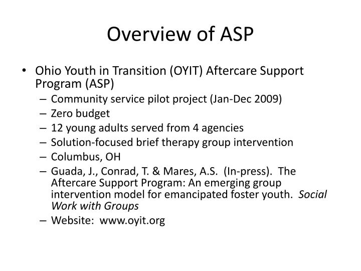 Overview of ASP