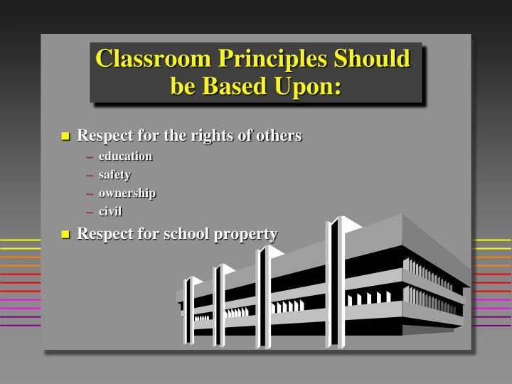 Classroom Principles Should