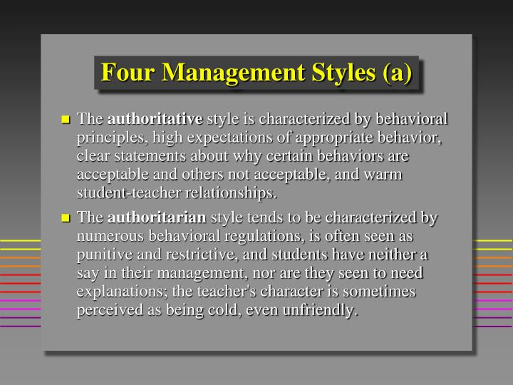 Four Management Styles (a)