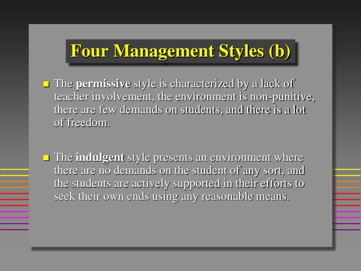 Four Management Styles (b)