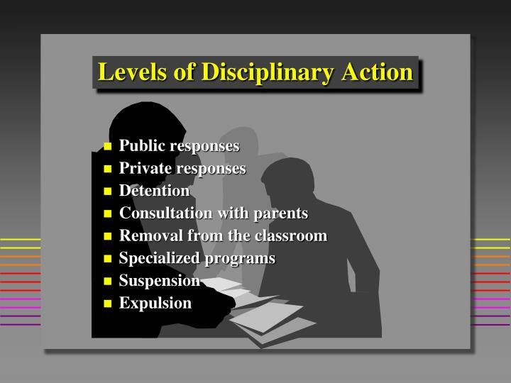 Levels of Disciplinary Action