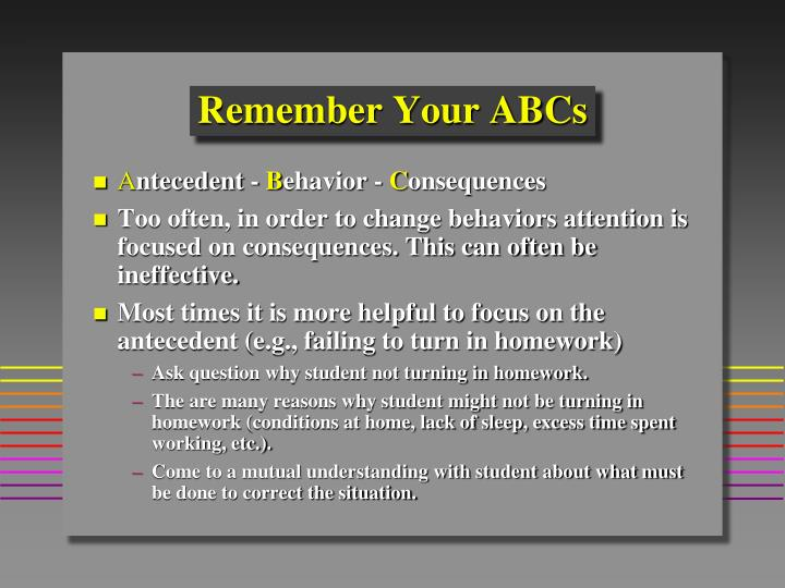 Remember Your ABCs