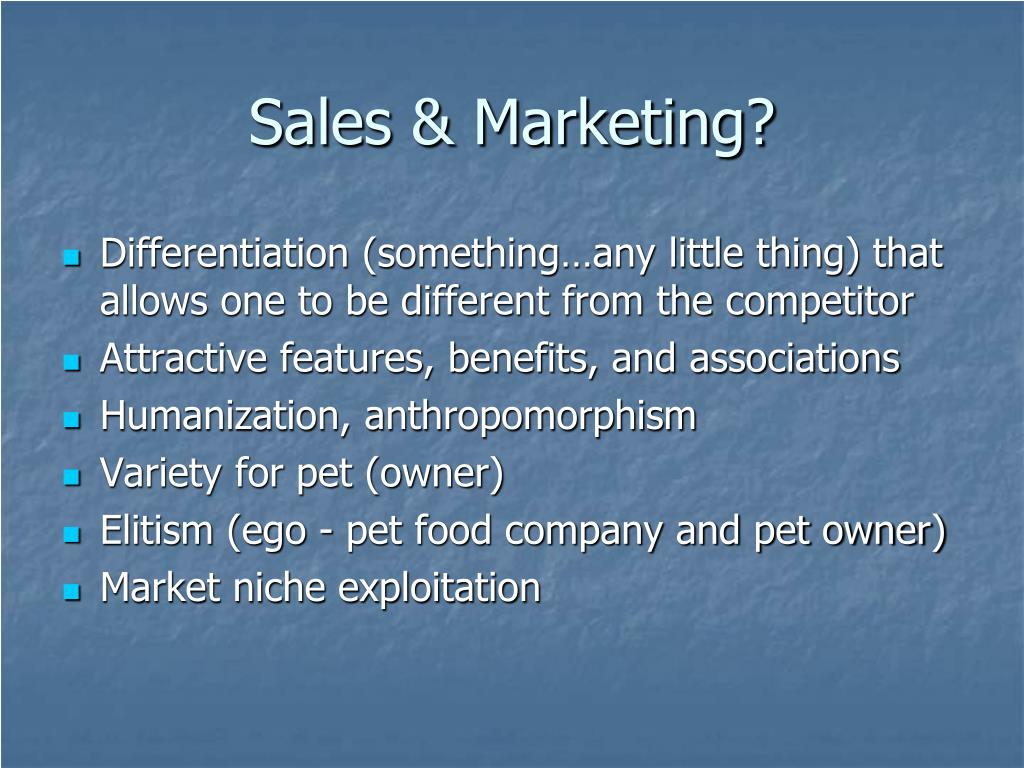 Sales & Marketing?
