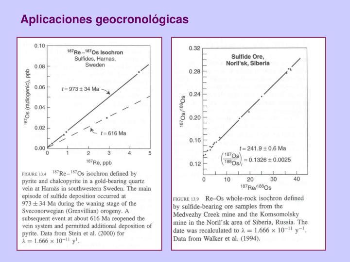 Aplicaciones geocronológicas