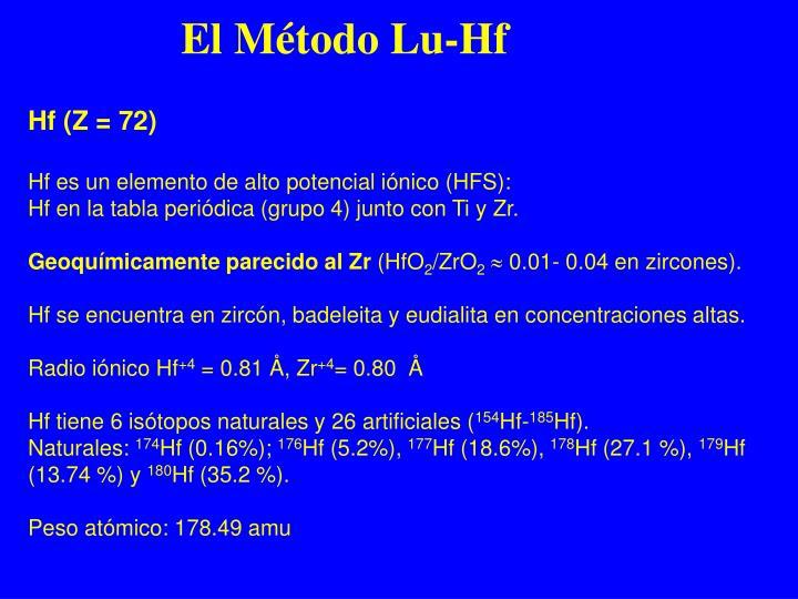 El Método Lu-Hf