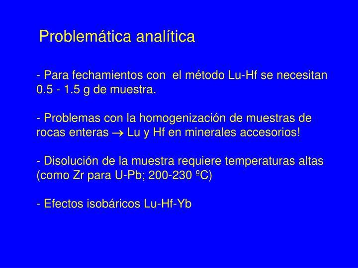 Problemática analítica