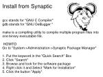 install from synaptic