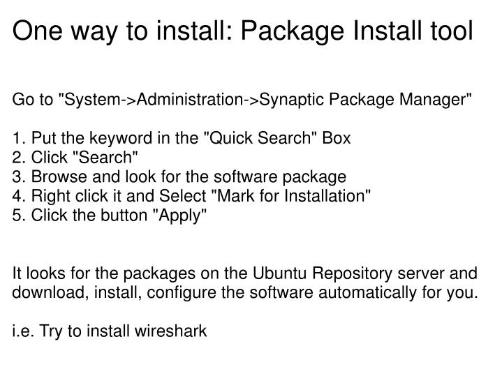 One way to install: Package Install tool