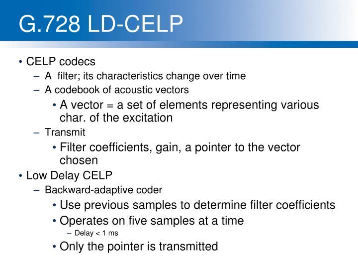 G.728 LD-CELP