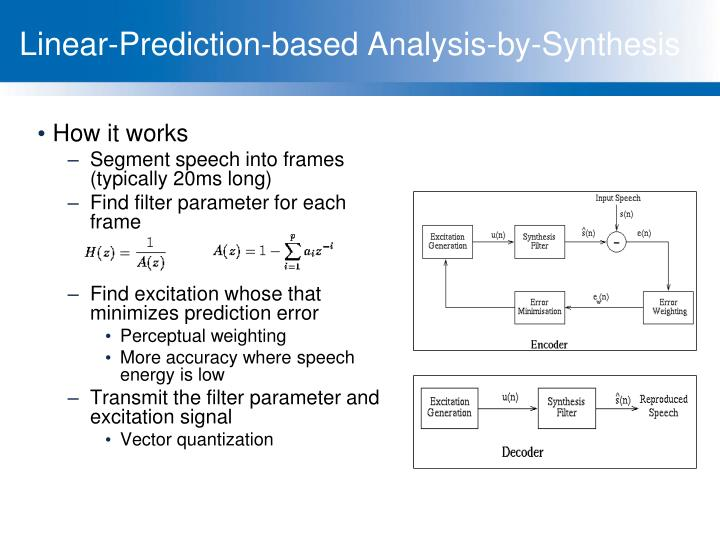 Linear-Prediction-based Analysis-by-Synthesis