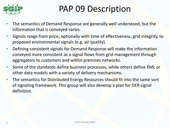 PAP 09 Description