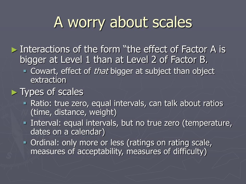 A worry about scales