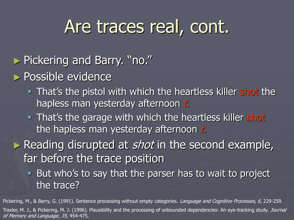 Are traces real, cont.