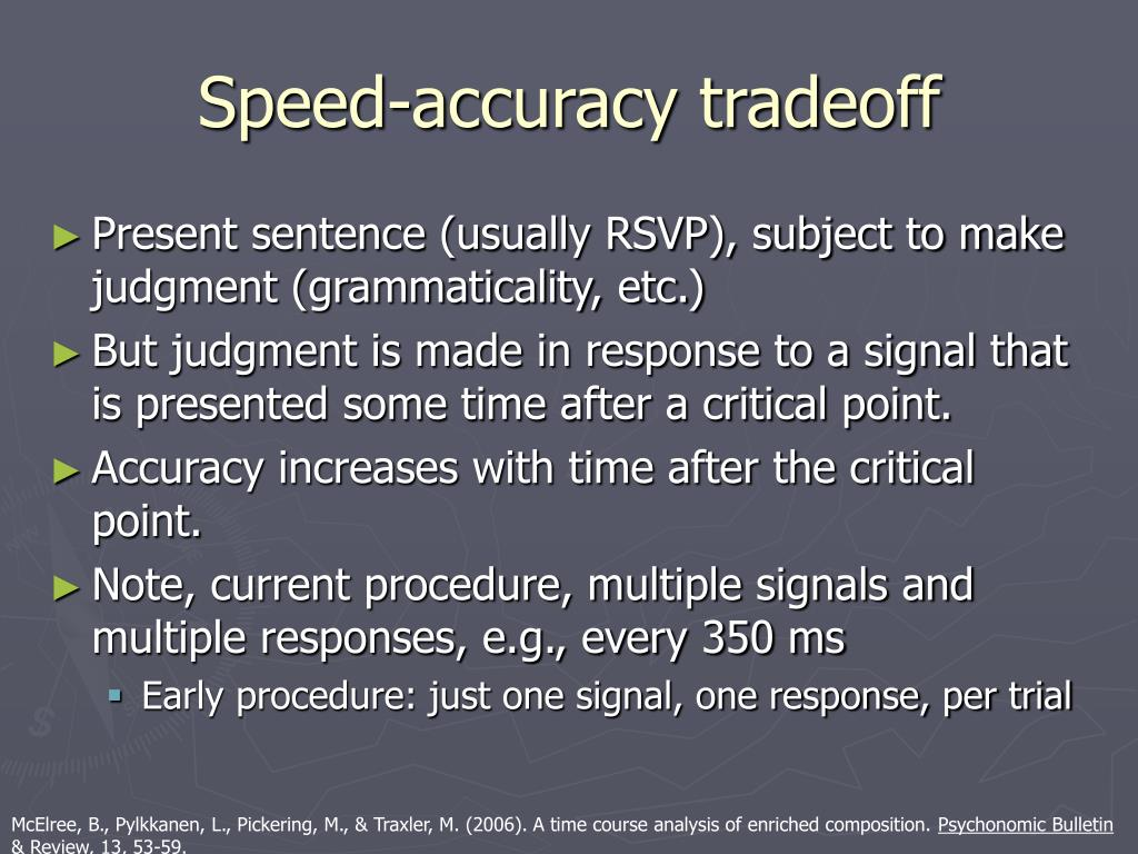Speed-accuracy tradeoff