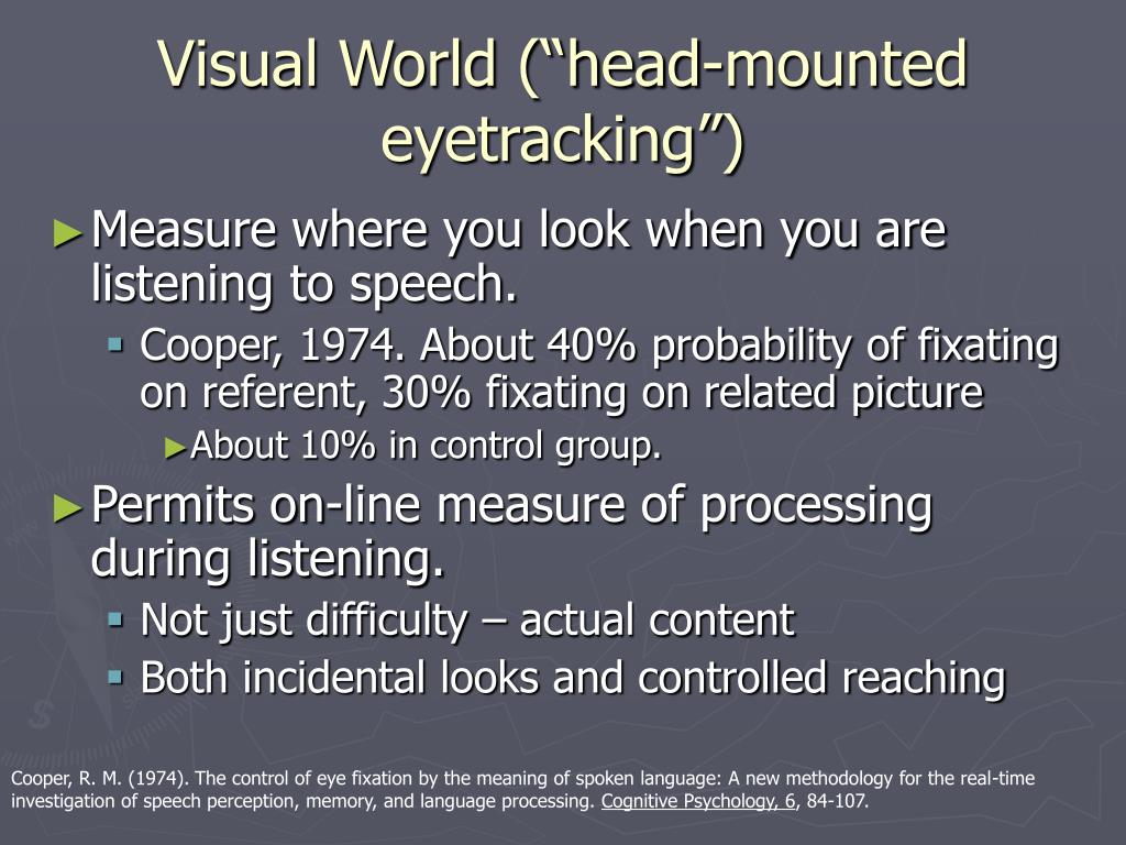 "Visual World (""head-mounted eyetracking"")"