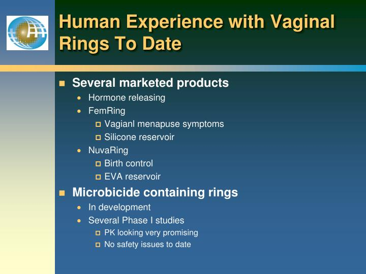 Human Experience with Vaginal Rings To Date