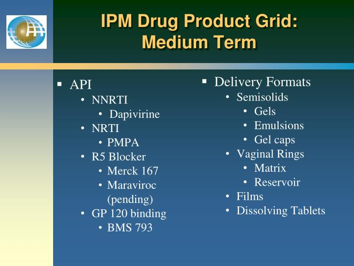 IPM Drug Product Grid: