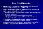blue card directive