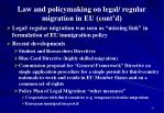 law and policymaking on legal regular migration in eu cont d