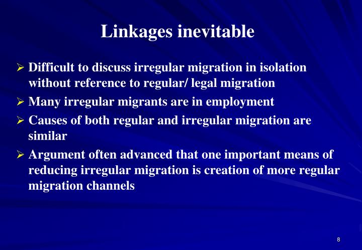 Linkages inevitable
