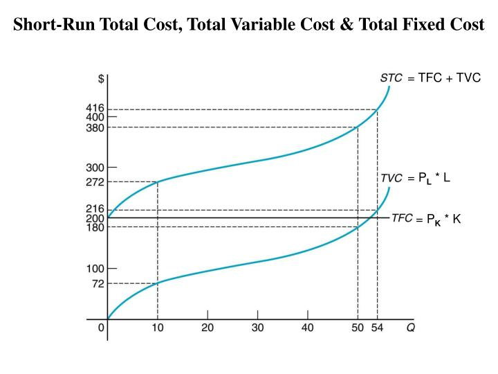 Short-Run Total Cost, Total Variable Cost & Total Fixed Cost