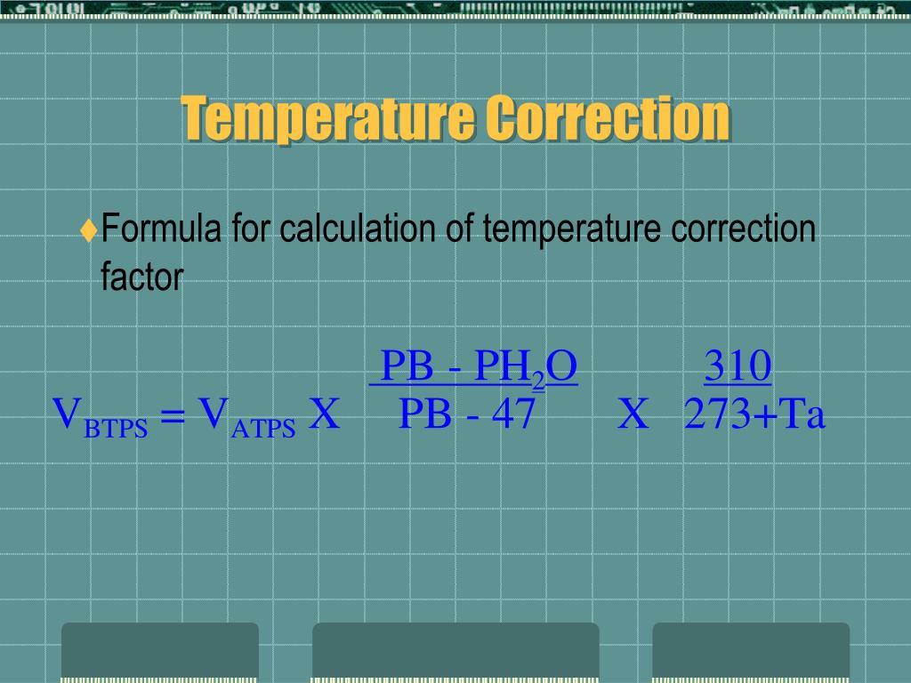 Temperature Correction