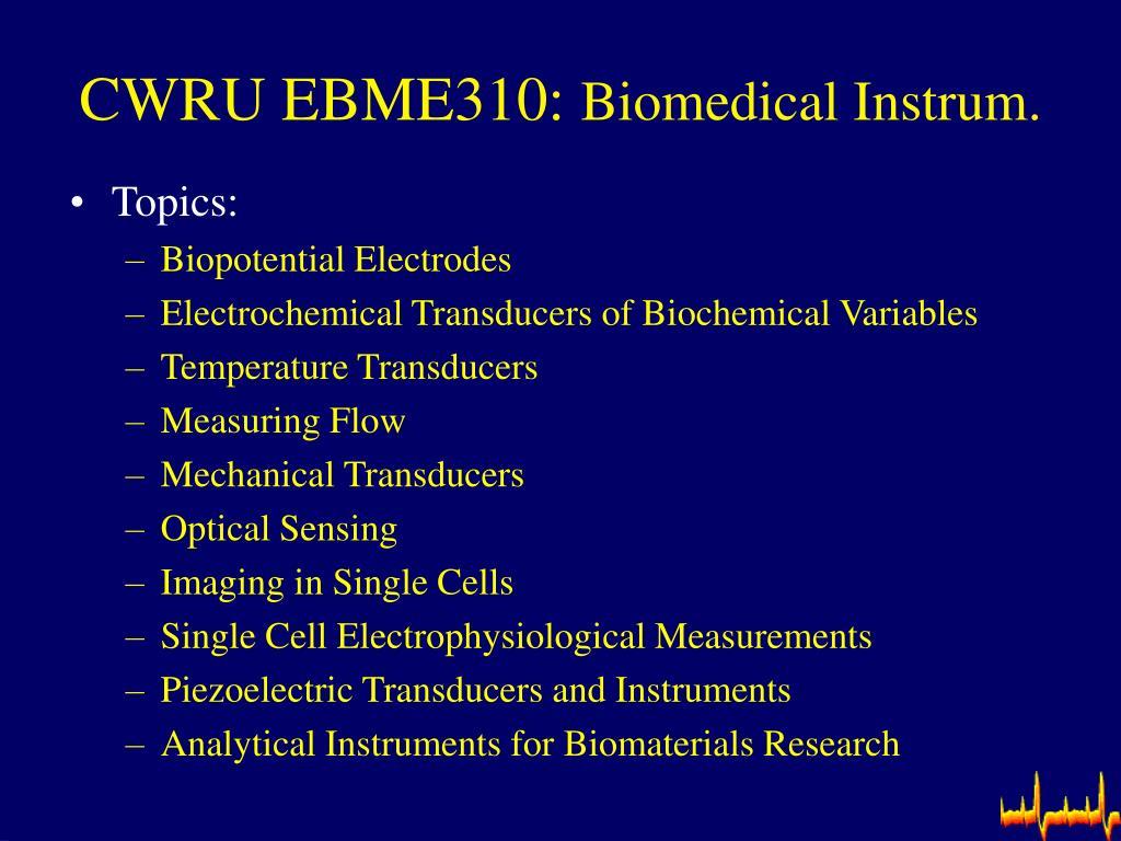CWRU EBME310: