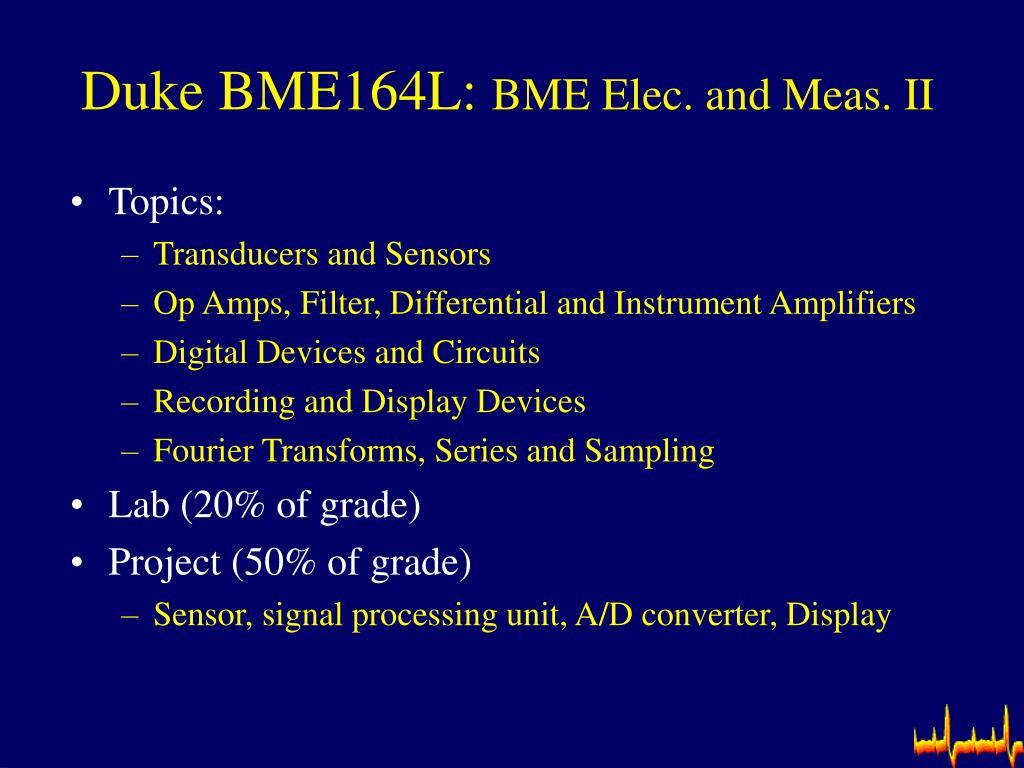 Duke BME164L: