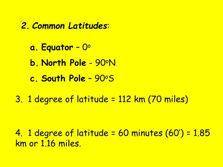 Common Latitudes