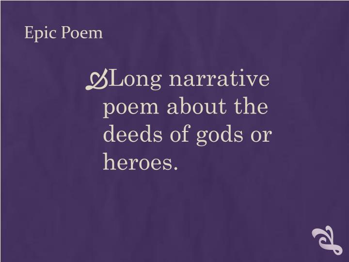 Epic Poem