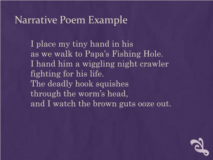 Narrative Poem Example